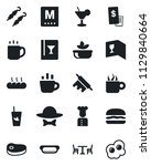 set of vector isolated black... | Shutterstock .eps vector #1129840664