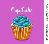 cupcake vector or illustration | Shutterstock .eps vector #1129842497