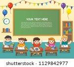 kids classroom. illustration of ...   Shutterstock .eps vector #1129842977