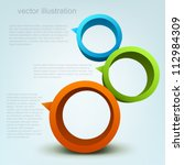 vector illustration of 3d rings ...