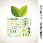 nature gift with leaves and... | Shutterstock .eps vector #112984351