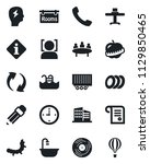 set of vector isolated black... | Shutterstock .eps vector #1129850465