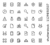 statistics icon set. collection ...   Shutterstock .eps vector #1129850537