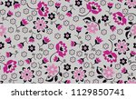 small flowers pattern with...   Shutterstock .eps vector #1129850741