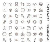 social network icon set....   Shutterstock .eps vector #1129851347