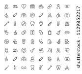 orthodontic icon set....   Shutterstock .eps vector #1129852217