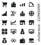 set of vector isolated black... | Shutterstock .eps vector #1129856909