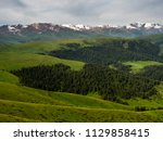 pass in the almaty mountains ... | Shutterstock . vector #1129858415
