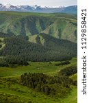 pass in the almaty mountains ... | Shutterstock . vector #1129858421
