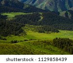 pass in the almaty mountains ... | Shutterstock . vector #1129858439