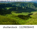 pass in the almaty mountains ... | Shutterstock . vector #1129858445
