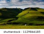kazakh yurt in assy plateau in... | Shutterstock . vector #1129866185