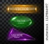 glass vector button plane. easy ... | Shutterstock .eps vector #1129866497