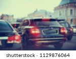 view of car in  traffic jam  ... | Shutterstock . vector #1129876064