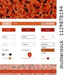 light red  yellow vector web ui ...