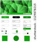 light green vector ui ux kit in ...