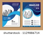 brochure design  cover modern... | Shutterstock .eps vector #1129886714