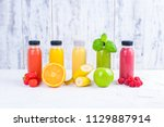 organic cold pressed raw... | Shutterstock . vector #1129887914