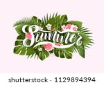 bright tropical background with ... | Shutterstock .eps vector #1129894394