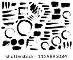 set of brush illustration hand... | Shutterstock .eps vector #1129895084