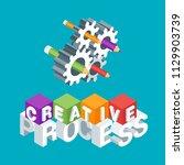 creative process concept. image ... | Shutterstock .eps vector #1129903739