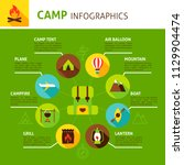 summer concept infographic.... | Shutterstock .eps vector #1129904474