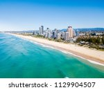 an aerial view of broadbeach on ... | Shutterstock . vector #1129904507