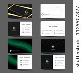 business card set. | Shutterstock .eps vector #1129907327