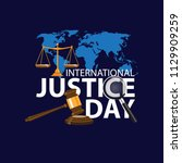 international justice day... | Shutterstock .eps vector #1129909259
