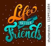 friendship day hand drawn... | Shutterstock .eps vector #1129911854