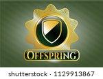golden emblem or badge with...   Shutterstock .eps vector #1129913867