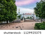 st. nicholas cathedral with a... | Shutterstock . vector #1129925375