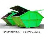 industrial waste bin  dumpster  ...   Shutterstock . vector #1129926611