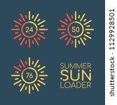 summer sun loader. color vector ... | Shutterstock .eps vector #1129928501