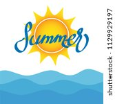 sea background and summer... | Shutterstock .eps vector #1129929197