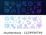 set of 2 startup colored... | Shutterstock .eps vector #1129934744
