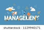 management concept. business... | Shutterstock .eps vector #1129940171