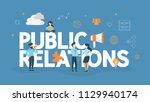 public relations concept. idea... | Shutterstock .eps vector #1129940174