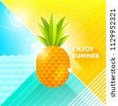 enjoy summer   vector... | Shutterstock .eps vector #1129952321