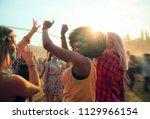 multiethnic girls covered in... | Shutterstock . vector #1129966154