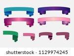 ribbon banner set promotional...   Shutterstock .eps vector #1129974245