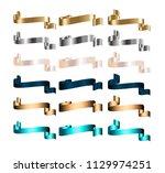 ribbon banner set promotional...   Shutterstock .eps vector #1129974251