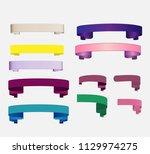 ribbon banner set promotional...   Shutterstock .eps vector #1129974275