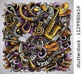 cartoon vector doodles classic... | Shutterstock .eps vector #1129980614