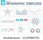 9 infographic templates  ...   Shutterstock .eps vector #1129980701