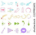 arrow signs use for your design ... | Shutterstock .eps vector #1129981601