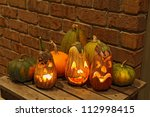 Carved Eggplant Jack O'lantern...