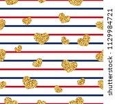 gold heart seamless pattern.... | Shutterstock .eps vector #1129984721