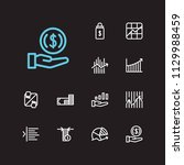 finance trading icons set....