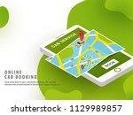 creative website template or... | Shutterstock .eps vector #1129989857